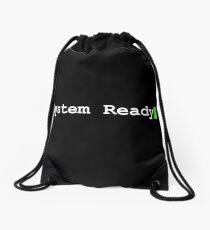 System Ready Retro Computer Graphic Drawstring Bag