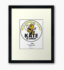 The Arkshakes Collection: Kate Button Framed Print