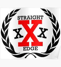 XXX Straight edge Radical Poster