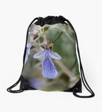 Flowers of a Tree Germander (Teucrium fruticans) Drawstring Bag