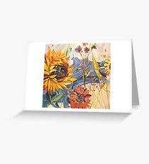 Sommersonne Grußkarte