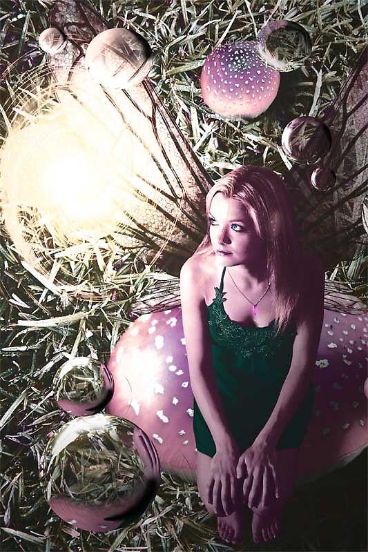 Amanda on a mushroom by David Knight