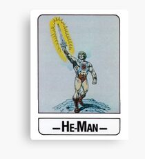 He-Man - He-Man - Trading Card Design Canvas Print