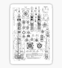 Soyuz Capsule Blueprint Sticker