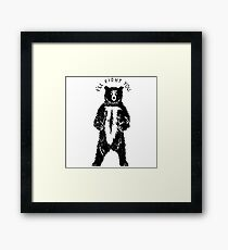 Don't Fight Bears  Framed Print