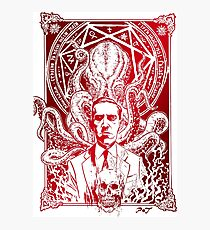 Lovecraft Cthulhu Red Photographic Print