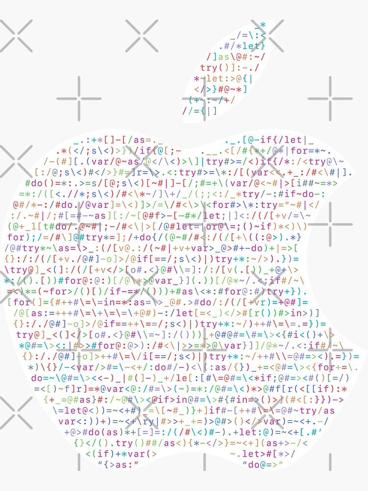 WWDC 2016 ASCII Logo (Light Version, Small Font Size) by kentliau