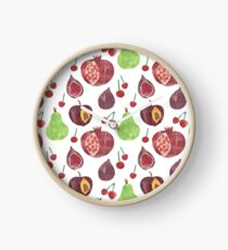 Plums Pears and Pomegranates  Clock