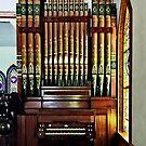 Pipe Organ in Church by Susan Savad