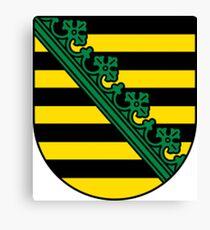 Saxony Coat Of Arms Canvas Print