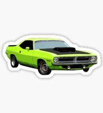 1970s Era Plymouth Barracuda Cuda Muscle Car Sticker