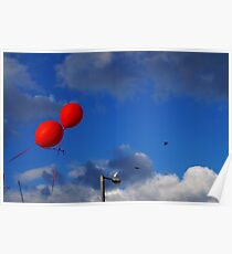Red Balloons Poster