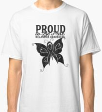 Proud to Be Pale Melanoma Awareness Butterfly Classic T-Shirt