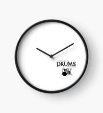 I Didn't Choose The Drum Set (Black Lettering) Clock