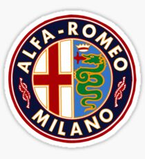 Antique Alfa-Romeo Classic Car Sign Sticker
