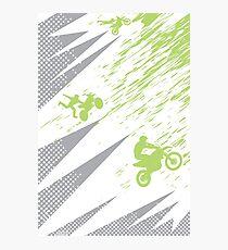 Motocross Dirt Bike Deco Photographic Print