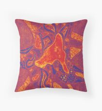 Coloured Blob Throw Pillow