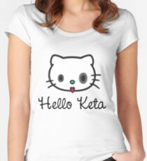 Hello Keta Fitted Scoop T-Shirt