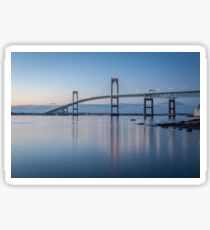 Newport Bridge at Twilight Sticker
