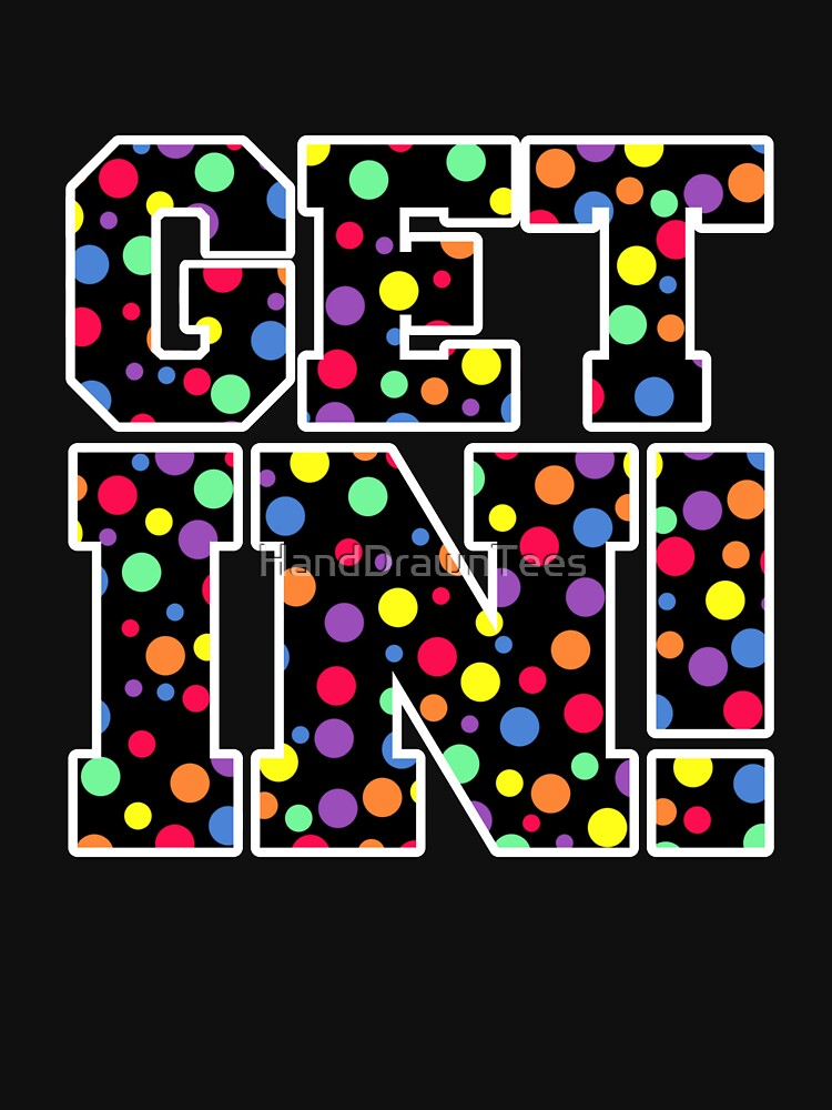 Get In! Coloured Spots by HandDrawnTees