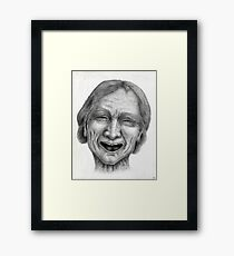 untitled - charcoal drawing Framed Print