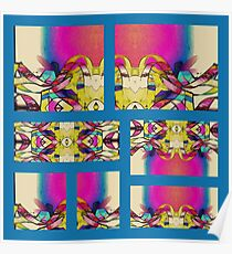 Ribbon Collage Abstract Poster