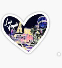 Las Vegas - Neon Heart Sticker