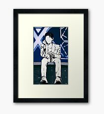 Kihyun on Stage Framed Print