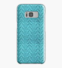 Aqua Wool Look A Like Samsung Galaxy Case/Skin