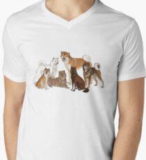 Nihon Ken Dogs Men's V-Neck T-Shirt