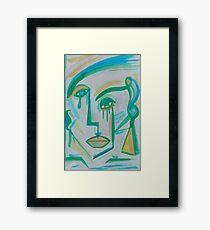 BLUE-GREEN Framed Print