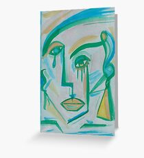 BLUE-GREEN Greeting Card