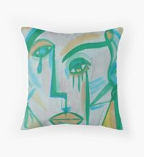 BLUE-GREEN Throw Pillow