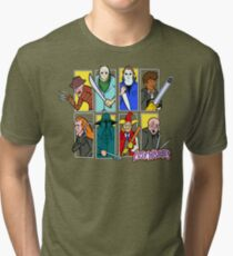 The Lost Mysteries (Vertical Blocks Design) Tri-blend T-Shirt
