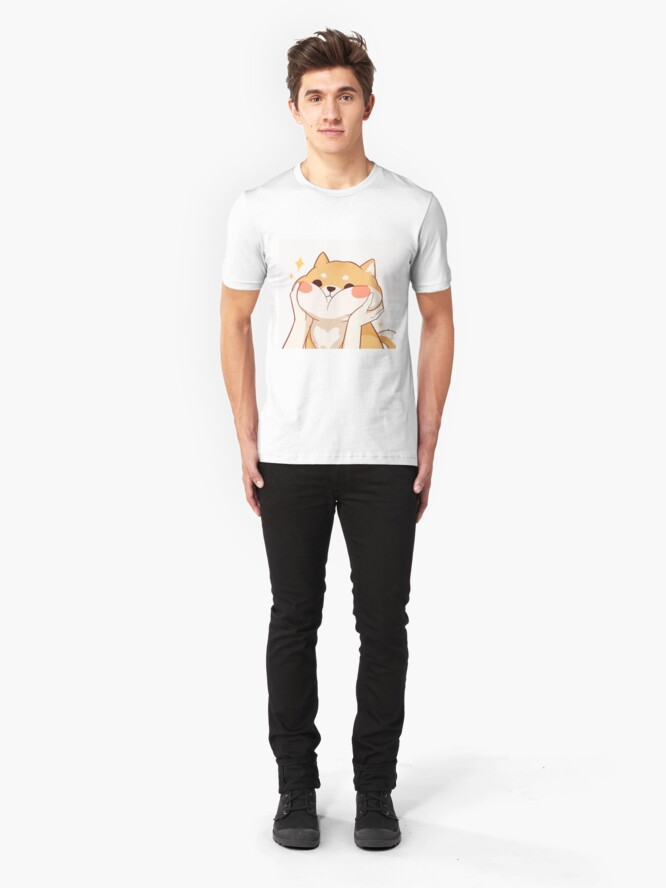 Alternate view of Kawaii Shiba inu Slim Fit T-Shirt