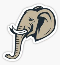 Elephant Head Logo Sticker
