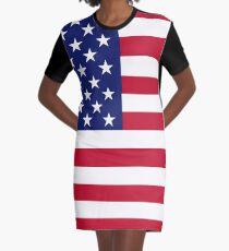 American flag Graphic T-Shirt Dress