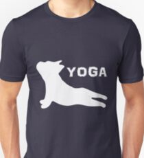 French Bulldog Yoga Puppy- Pet Lover, Awesome Dog Silhouette T-Shirt
