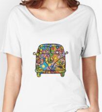 VW Flower Van Women's Relaxed Fit T-Shirt