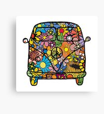 VW Flower Van Canvas Print