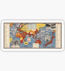 Vintage Map - Victory of the Second World War, 1945 Sticker