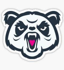 Angry Panda Logo Sticker