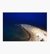 Blue Sea Coast Night Photographic Print
