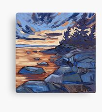 Sunset in Algonquin park  Canvas Print