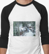 Snow Scene Men's Baseball ¾ T-Shirt