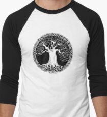 Celtic Wisdom Tree (Black version) Men's Baseball ¾ T-Shirt