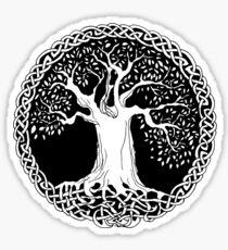 Celtic Wisdom Tree (Black version) Sticker