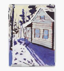 Cottage Snow Shadows iPad Case/Skin