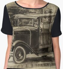 Old Jalopy in Wiscasset Women's Chiffon Top