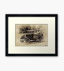 Old Jalopy in Wiscasset Framed Print